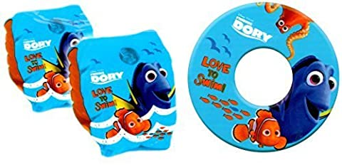 Finding Dory Inflatable Armbands & Swim Ring Beach Swimming Pool Set