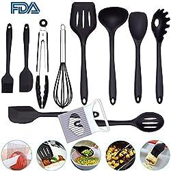Set de utensilios de cocina de silicona de 10 piezas Herramientas de silicona antiadherente resistentes al calor