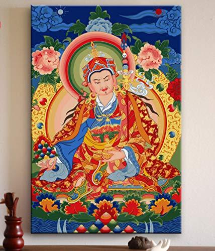 Haus Statue (JASIOHCDS Jasiohcdshandbemalte Digitale malerei Erwachsene Kinder malen Werkzeuge DIY Kunst malerei Wohnzimmer Hause Buddha Statue Dekoration Geschenk malerei 40 * 50 cm)