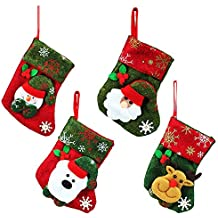 ChristmasDay07 Adornos decoración para árbol de Navidad o Cubiertos de Mesa - 4 Diseños navideños Diferentes