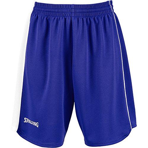 Spalding 4her II Short de basket Femme Bleu Marine/Jaune - Bleu roi/blanc