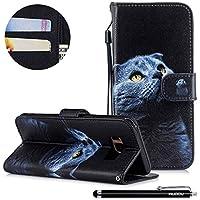 HUDDU Bunt Muster Handyhülle Samsung Galaxy S8 Leder Hülle Flip Wallet Case Ledertasche im Bookstyle mit Kartenfach... preisvergleich bei billige-tabletten.eu