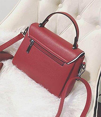 DHFUD Frauen Wild Solid Color Schulter Portable Messenger Bag Brown