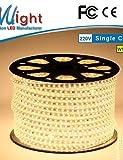 Mlight M 72 leds/m 5050 SMD Warmweiß/Weiß Wasserdicht/Schneidbar 6 W Flexible LED-Leuchtstreifen AC110-220 V , au-white