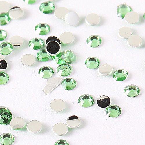 NEW Nail Art strass vert clair Lot de 1000 strass, einleger strass strass ongles pour ongles gel