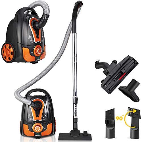 Deuba® Staubsauger Bodenstaubsauger Sauger Teppichsauger • mit Beutel • 900W • 8m Aktionsradius • orange