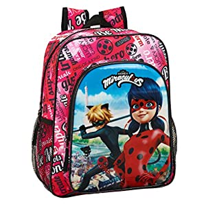 513z4PfQ%2BrL. SS300  - Ladybug & Cat Noir Mochila Junior niña Adaptable Carro.