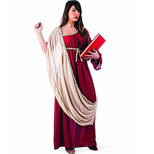 Elbenwald - Costume Dea Greca Antica - Costume Per Carnevale O Feste A Tema - Lunghezza Al Pavimento E Scialle In Cotone - L