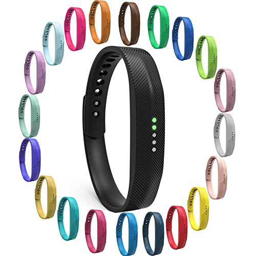 For Fitbit Flex 2!Large/Small Relacement Wristband Bangle Strap Bracelet+Metal Buckle/Men WomenCHR(39)s Sports Fitness Accessory TPU Wrist Band Strap+Clasp