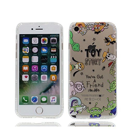 iPhone 7 Plus Custodia, Prova di scossa anti-graffio [ Cartoon Disney Personaggi gioca Dinosauro ] Silicone Trasparente Nuovo Gel Soft Case iPhone 7 Plus Custodia (5.5 pollici) durevole Cartoon Cover # # 3