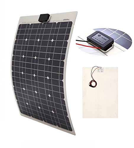 ICO LLC 40W SEMI-FLEXIBLE Mono Panel Solar Cell Panel para yates casa techo RV Camper carga de batería 12V sistema (precio: 63,03€)