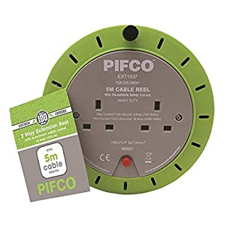 PIFCO EXT1037 Extension Reel, Green