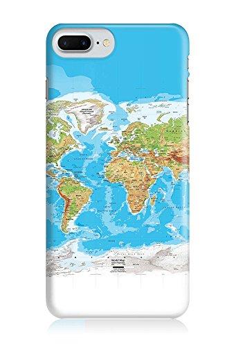 COVER Weltkarte Atlas Reisen Design Handy Hülle Case 3D-Druck Top-Qualität kratzfest Apple iPhone 7 Plus