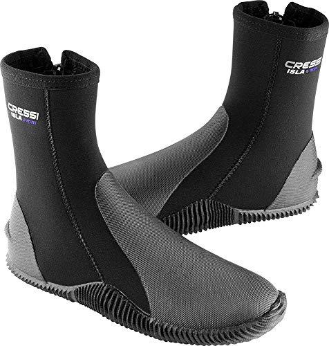 Cressi Isla Boots - Unisex-Erwachsene Neopren Taucherschuhe, Schwarz (Schwarz/Blau Logo/3 mm), M (40/41)