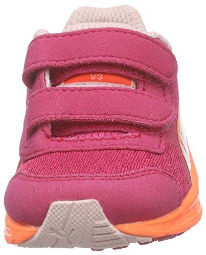 Puma Descendant v3 V Kids, Sneakers basses mixte enfant Rose - Pink (rose red-puma silver 07)