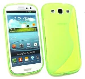 Emartbuy ® Samsung Galaxy S3 I9300 Siii Motivo A Onde Gel Cover Verde