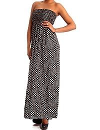603aeb93b21f Damen Maxikleid Hippie Bandeau Long Dress Strandkleid Trägerlos Langes Kleid  für Frühling und Sommer Jumper aus