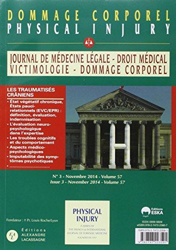 Journal de médecine légale : Dommage corporel : N° 5-6/volume 57, octobre 2014