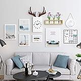 Skandinavischen Stil dekorative Sofa Hintergrund Wandbild kreative Wohnzimmer Wandbild Korridor Wand hängend, 165 * 93cm der Wandfläche, 20 mm dicke Platte, ein reines Weiß (Love Landscape), ein Satz
