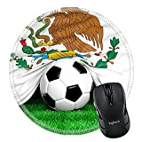 MSD en caoutchouc naturel Tapis de souris Image ID 29112532Soccer Ball avec drapeau mexicain sur Football Field Plan 1002