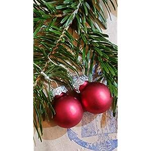 Weihnachtsohrhänger in ROT matt- der Topseller vom Hamburger Weihnachtsmarkt!