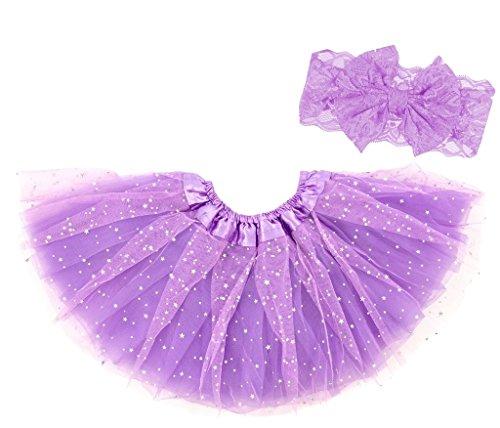 ck Sternchen Tutu Set mit Haarband Lavendel Glitzer 6-23 Monate ()