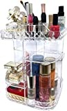 Organizzatore rotante per trucco per il comò della camera da letto Supporto girevole a 360 gradi per un facile accesso ai cosmetici Controsoffitto acrilico