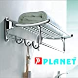 Planet Platinum High Grade Stainless Steel Folding Towel Rack (2 feet long) - Pack of (1)