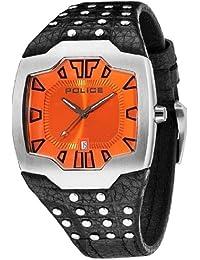 Police PL.13634JS-17 - Reloj analógico de cuarzo para hombre con correa de piel, color negro
