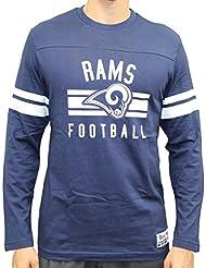 "Los Angeles Rams Majestic NFL ""Full Strike"" Men's Long Sleeve Crew shirt Chemise"