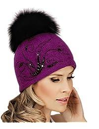 9230bae897751e New Pom Pom Hat GIZELDA - Women's Wool Winter Hat, Ski Hat