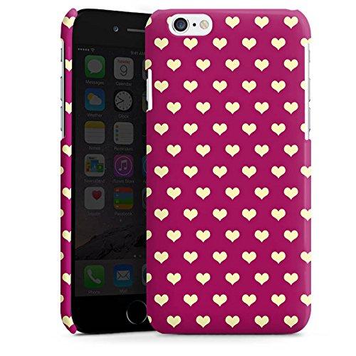 Apple iPhone 6 Housse Étui Silicone Coque Protection Petit c½ur Motif Motif Cas Premium brillant