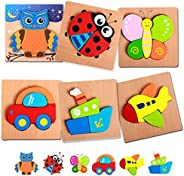 KIDSDREAM Wooden Puzzles for Toddlers Baby Infant Kids, Wooden Jigsaw Puzzles Toys Early Educational Toys Gift