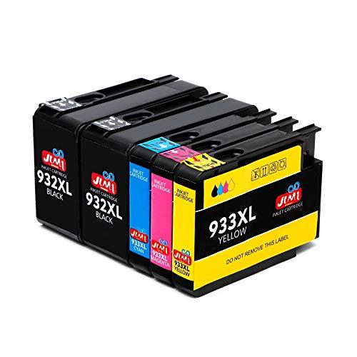 JIMIGO 932XL 933XL Cartuchos de Tinta Reemplazo para HP 932 933 Tinta Compatible con HP Officejet 7110 7612 6700 6600 6100 7610