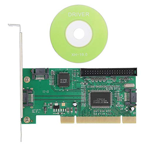Bewinner PCI-E-Extender-Riserkarte, PCI-SATA + IDE-Erweiterungskarten-Riserkarte, Adapterkonverter für Laptop-Computer, 3 SATA-IO-Schnittstellen, Unterstützung optionaler RAID-Funktionen -