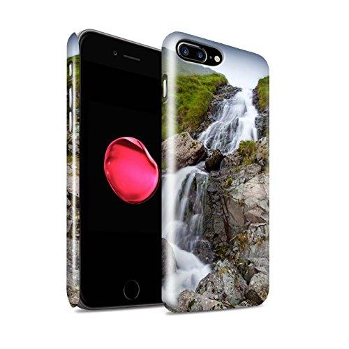 STUFF4 Glanz Snap-On Hülle / Case für Apple iPhone 8 Plus / Felsigen Stream Muster / Wasserfälle Kollektion Hügel