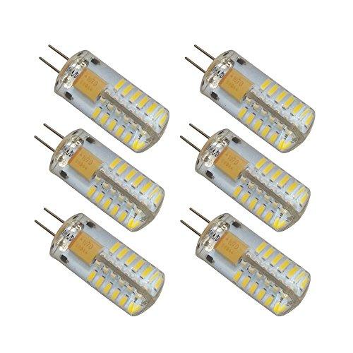 LJY 6-Pack G4 48-LED luce del giorno neutro luce bianca 4000K LED di cristallo della lampadina lampade 3 Watt ca equivalente DC 12V Non-dimmable di 20W lampadine LED ad incandescenza la sostituzione