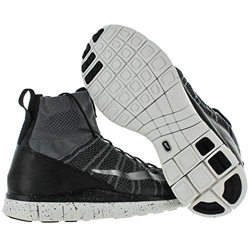 Nike Free Flyknit Mercurial, Chaussures de Foot Homme, Gris Gris (Dunkelgrau/Schwarz/Summit Weiß/Silber)