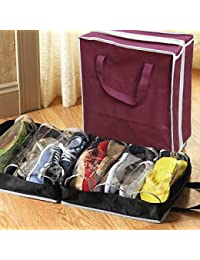 Portable Folding Shoes Storage Bag Travel Tote Zipper Pouch Ventilation Folding Portable Gym Waterproof Organizer