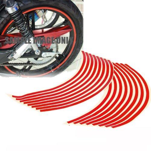 """Preisvergleich Produktbild Bestdeal® Hohe Qualität Reflektierende Felgenrandaufkleber Felgen Aufkleber für Auto Motorrad Fahrrad Truck (14"""", Red)"""