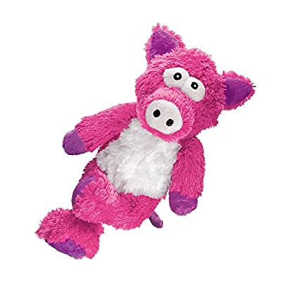 KONG Cross Knots Plush Squeaky Dog Chew Toy - Pig
