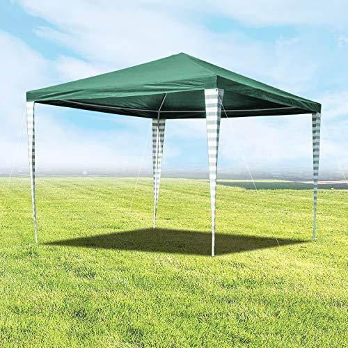 wolketon Pavillons 3 x 3 m Partyzelt für Garten Terrasse Markt Camping Festival als Unterstand Gartenpavillon Grün zelt