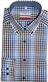 Marvelis Hemd Modern Fit Button Down Kariert - Extra Langer Arm 69cm, Größe 44