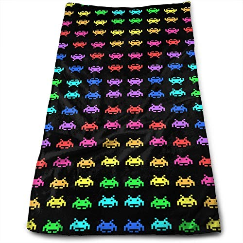 e711826831 best& Space Invaders Black Multi-Purpose Microfiber Towel Ultra Compact Super  Absorbent and Fast Drying
