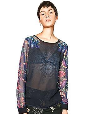 desigual blusa mangas full print. talla s