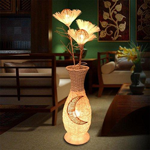 Bambus-harz-tischlampe (AWSDR® Stehleuchten/Floor Lamps/Torchieres Led Vertical Schlafzimmer Bambus Kunst Moderne Einfache Mode Wohnzimmer Augenschutz Home Improvement Lampen Nachttisch Licht)