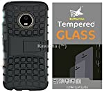 Premium Kavacha Combo of Armor Stand case and tempered glass for Moto G5    Selected and used Japanese imported glass material and nanotechnology with excellent defensive performance. It owns super high transmittance and restoring the original color ...
