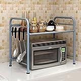 Anna Küchenregale Mikrowellenherdgestelle Ofengestelle Mehrzweckküchenlagergestelle Küche liefert Geräte (Farbe : Grau)