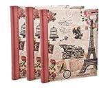 Arpan große Fotoalben, 3Stück, rosa, selbstklebend, mit insgesamt 60Blatt/120Seiten, geeignet für Reiseerinnerungen