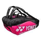Yonex Thermobag 9829 Schlägertasche mit 3 Hauptfächern für Badminton, Tennis und Squash (pink)
